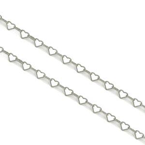 Stříbrný náhrdelník SRDCE Velikost řetízku: 42 cm