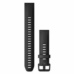 Garmin Řemínek Garmin QuickFit 20, silikonový, černý, dlouhý, černá přezka - 010-12942-00