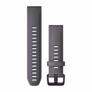 Garmin Řemínek Garmin QuickFit 20, silikonový, šedivý, černá přezka - 010-13011-00