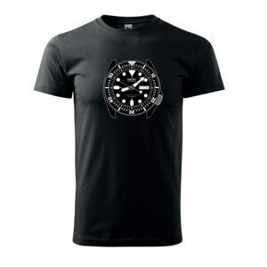 Triko hodinkový motiv SKX Helveti - černé