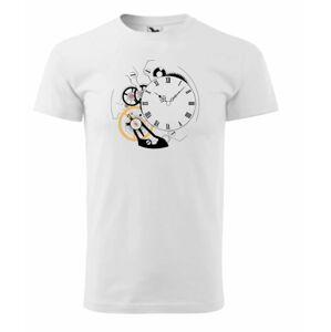 Triko hodinkový motiv Helveti - bílé