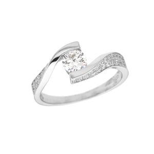 Stříbrný prsten SOLITÉR Velikost prstenu: 50