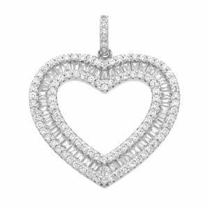 Luxusní stříbrné srdce