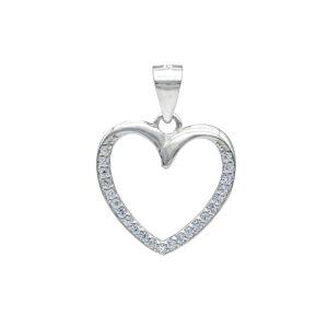 Stříbrné zářivé srdce