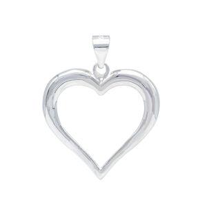 Stříbrný přívěsek srdce 28 mm