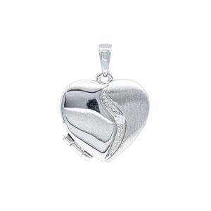 Stříbrné otevírací srdíčko