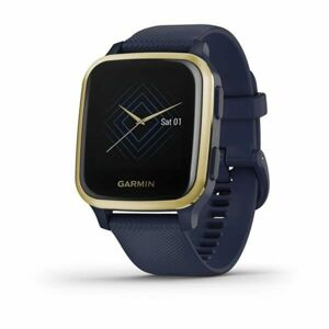 Garmin Venu Sq Music, LightGold/Blue Band 010-02426-12
